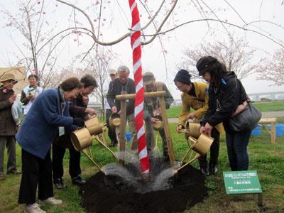 写真:記念植樹